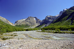 Horizontal dans le Patagonia chilien Photos stock