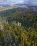 Horizontal dans le temps d'automne. images libres de droits