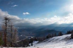 Horizontal dans les montagnes Image libre de droits