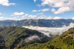 Horizontal dans les Pyrénées espagnols Photos libres de droits