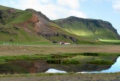 Horizontal dans méridional de l'Islande Photos stock