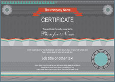 Horizontal dark certificate Stock Photos