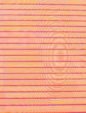 Horizontal dark orange-purple stripes on the uneven background of concentric circles.  stock illustration