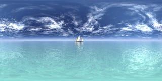 Horizontal de 360 degrés Photographie stock libre de droits