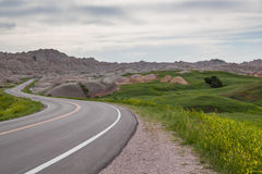 Horizontal de bad-lands Photo libre de droits
