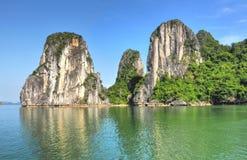 Horizontal de baie de Halong Photographie stock