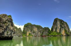 Horizontal de baie de Halong Photos libres de droits