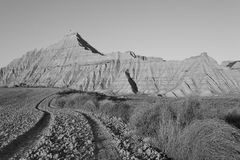 Horizontal de Bardenas   Photo stock