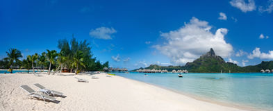 Horizontal de Bora Bora photographie stock