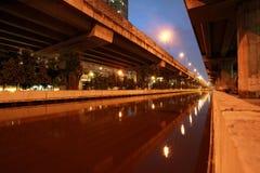 Horizontal de canal de Prapa en Thaïlande Images libres de droits