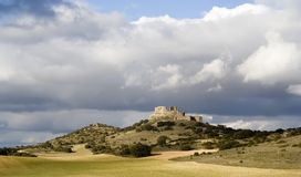 Horizontal de Castillo de Puebla de Almenara Photographie stock libre de droits