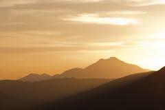 Horizontal de chaîne de Moutain Images stock