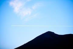 Horizontal de ciel bleu Photos libres de droits