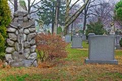 Horizontal de cimetière Images stock