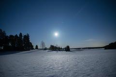 Horizontal de clair de lune Photos stock