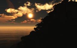 Horizontal de coucher du soleil Image stock