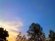 Horizontal de coucher du soleil photos stock