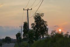 Horizontal de coucher du soleil Photographie stock libre de droits