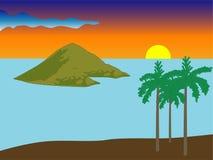 Horizontal de coucher du soleil de vecteur Photos libres de droits