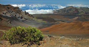 Horizontal de cratère de Haleakala Photographie stock libre de droits