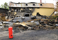 Horizontal de désastre d'incendie Image libre de droits