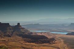 Horizontal de désert Photographie stock