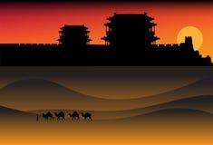Horizontal de désert de soirée Images stock