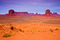 Horizontal de désert de vallée de monument Photos stock