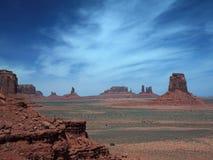 Horizontal de désert en vallée de monument Image libre de droits