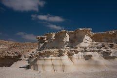 Horizontal de désert, Negev, Israël Images libres de droits