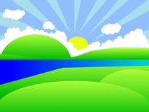 Horizontal de dessin animé Photographie stock libre de droits