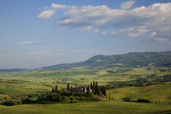 Horizontal de ferme de la Toscane images stock