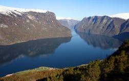 Horizontal de fjord en Norvège Image libre de droits