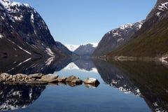 Horizontal de fjord en Norvège Image stock