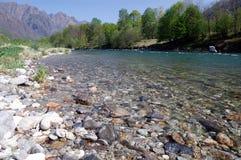 Horizontal de fleuve d'été Images libres de droits