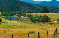Horizontal de fleuve de Milou, Australie Photographie stock