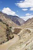 Horizontal de fleuve Jingsha en Chine Image stock