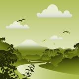 Horizontal de forêt illustration de vecteur