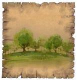 horizontal de forêt de jour ensoleillé illustration stock