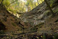Horizontal de formations de roche Photos libres de droits