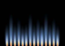 horizontal de gaz de flammes illustration de vecteur