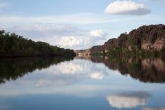 Horizontal de gorge de Geiki Images stock