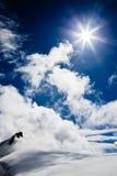 Horizontal de haute montagne : glaciers et nuages photos libres de droits