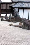 Horizontal de jardin de zen Image libre de droits