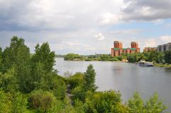 Horizontal de Krasnoyarsk d'été Image stock