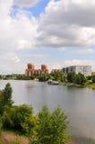 Horizontal de Krasnoyarsk d'été photos stock