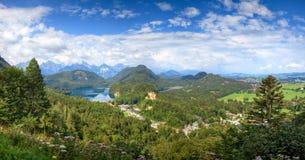 Horizontal de l'Allemagne d'Alpes Images libres de droits