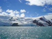 Horizontal de l'Antarctique Photos stock