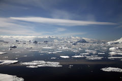 horizontal de l'Antarctique Images stock