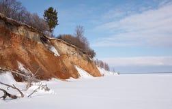 Horizontal de l'hiver. Image libre de droits